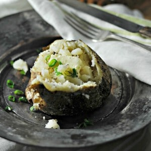The perfect Steakhouse Baked Potato www.loavesanddishes.net