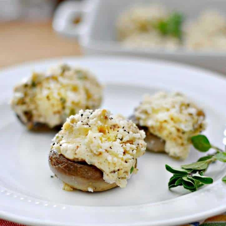 Sausage and Cheese Stuffed Mushrooms www.loavesanddishes.net