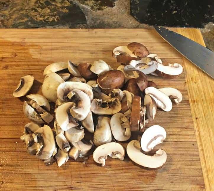 Mushroom Bacon Calzone www.loavesanddishes.net