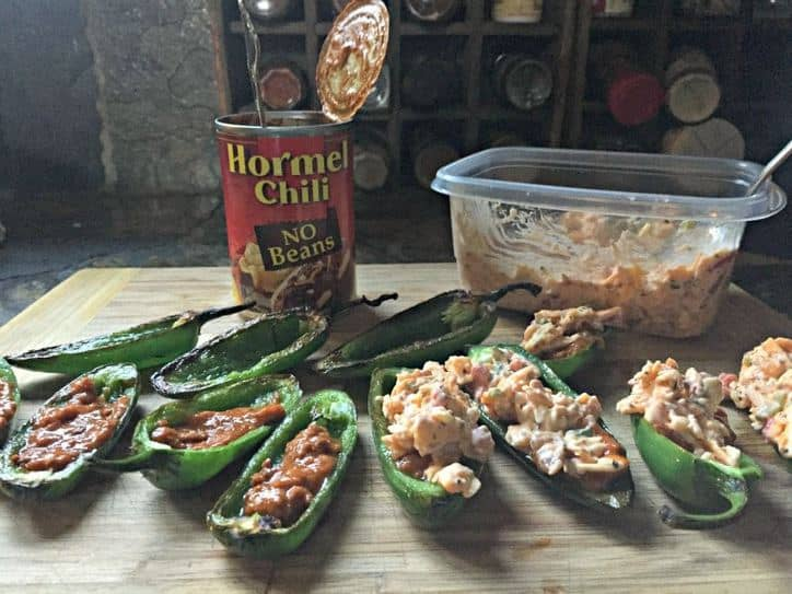 Chili Pimento Cheese poppers