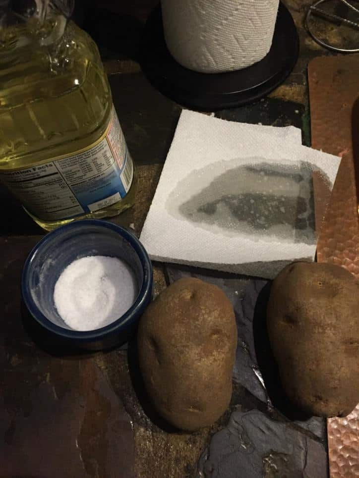The perfect Steakhouse Baked Potato www.loavesanddishes.net
