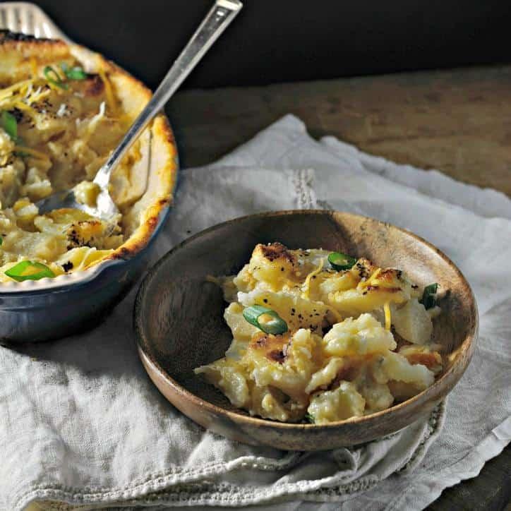 Twice Fired Potatoes www.loavesanddishes.net