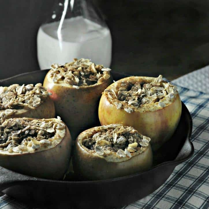Apple Pie Baked Apples www.loavesanddishes.net