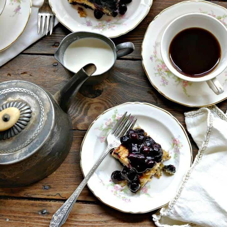Blueberry Cobbler @www.loavesanddishes.net