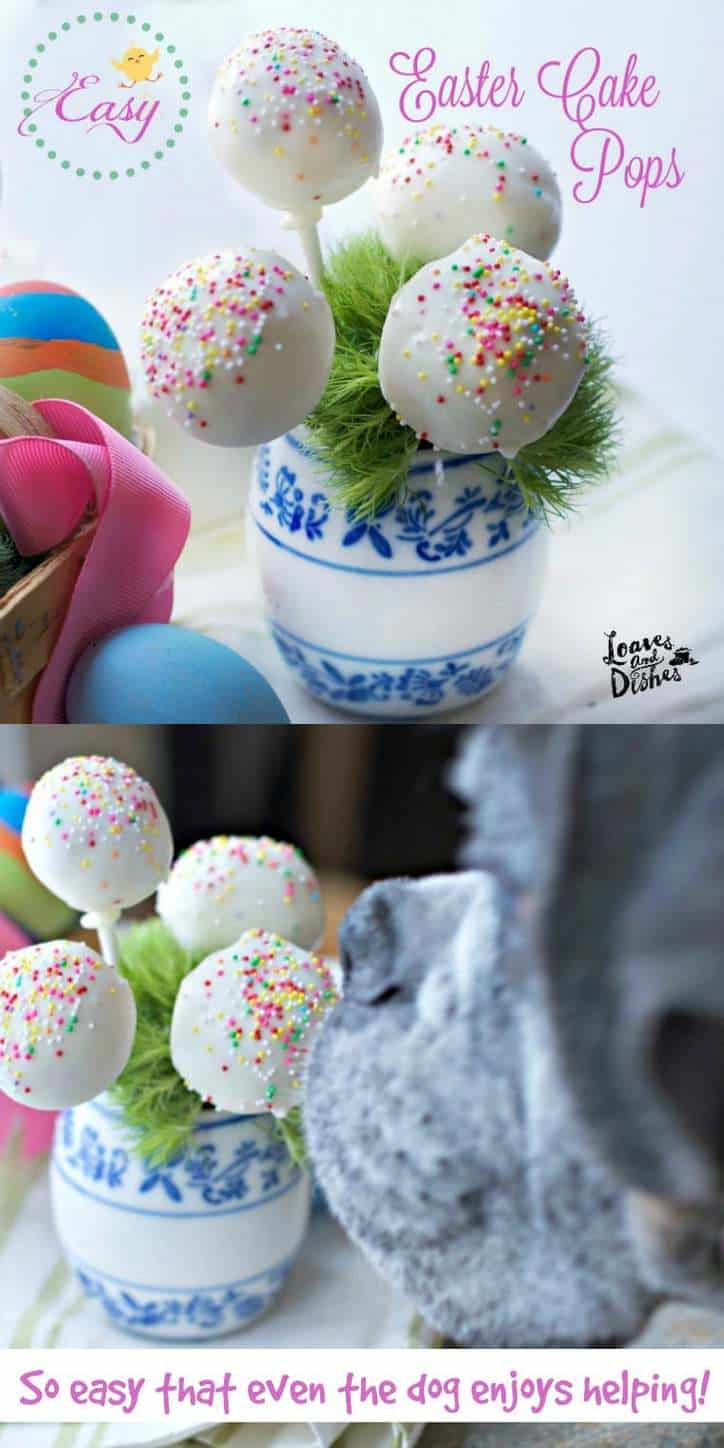 A Simple Easter project for adults and children alike. Just don't leave too close to the dog! Fun Cake Pops are simple and Easy to make. Delicious to enjoy. Perfect for Easter or any party occasion