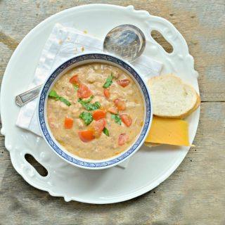 Crockpot Cheeseburger Soup www.loavesanddishes.net