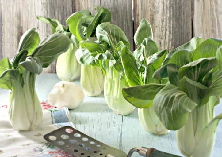 Garlic Bacon Bok Choy www.loavesanddishes.net