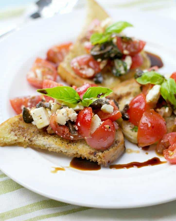1 a 760 Easy Summer Party Bruschetta @www.loavesanddishes.net