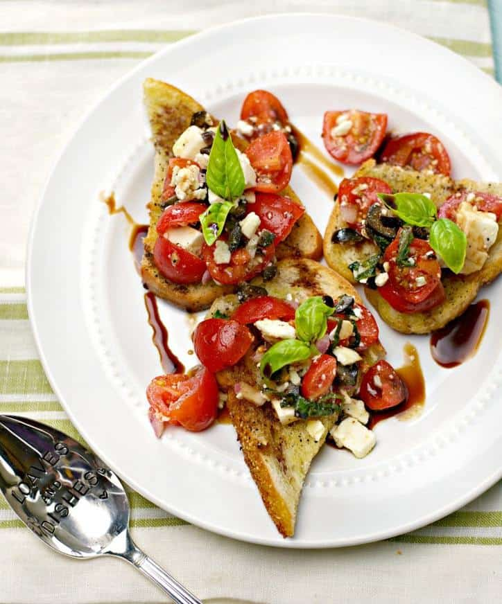 5 a 760 Easy Summer Party Bruschetta www.loavesanddishes.net