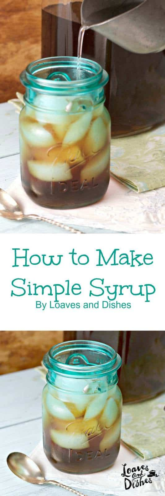 Easy instructions for saving money by making your own simple syrup. Exactly one step more than boiling water. Cheap. Easy. Do it yourself. make your own. . Great for sweet cocktails, beverages, moist cake, sugared candies and MORE