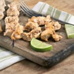Creamy Sriracha Lime Chicken Skewers