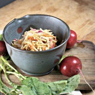 Quick Broccoli Slaw Kimchi