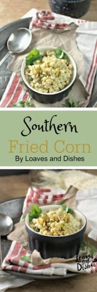 Delicious and so simple - there's even a food video if you visit the post! Easy fried corn dish - totally southern. Come on and let's eat ya'll!