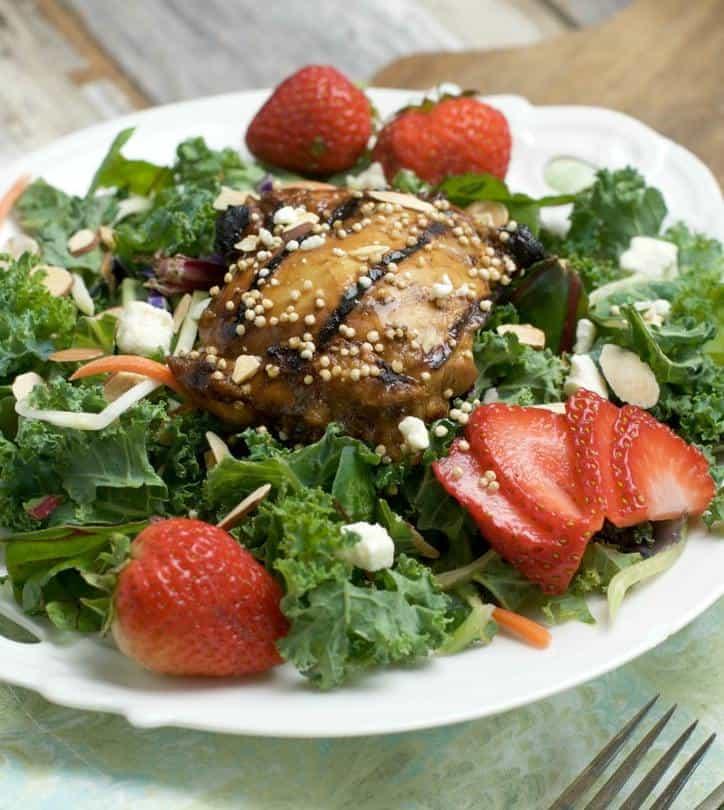 Balsamic Marinated Chicken Over Salad