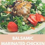 Balsamic Marinated Chicken Over Salad