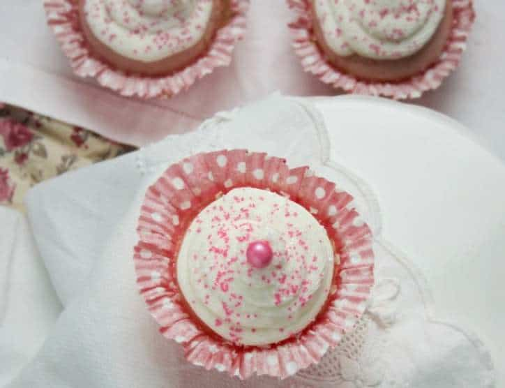 Easy Pink Vanilla Cupcake