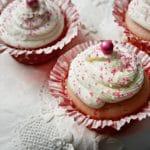 Easy Pink Vanilla Cupcakes