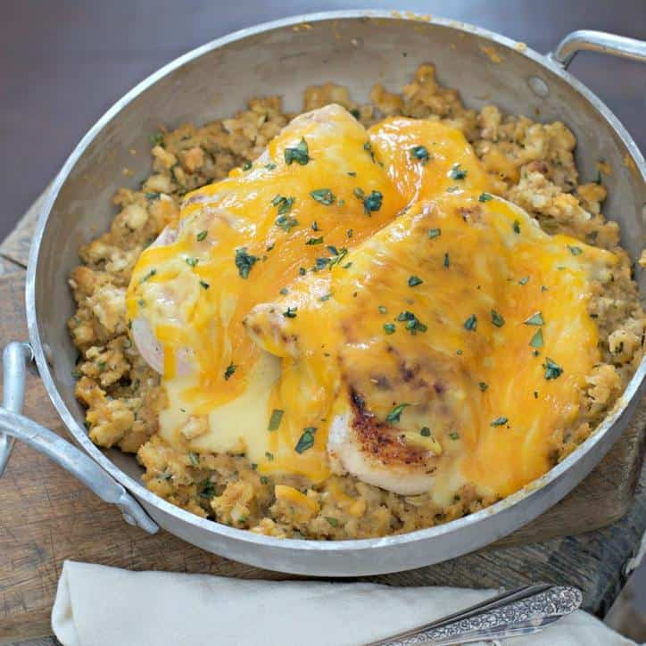 Weeknight Cheesy Chicken and Stuffing