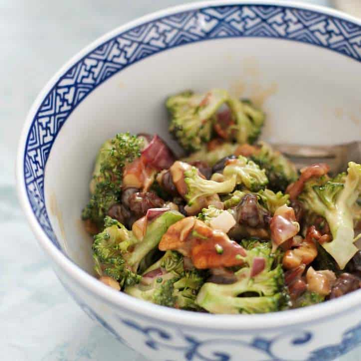 Old Time Broccoli Opposite Salad