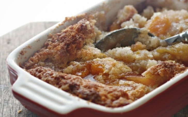 Easy Peach Cobbler For Two