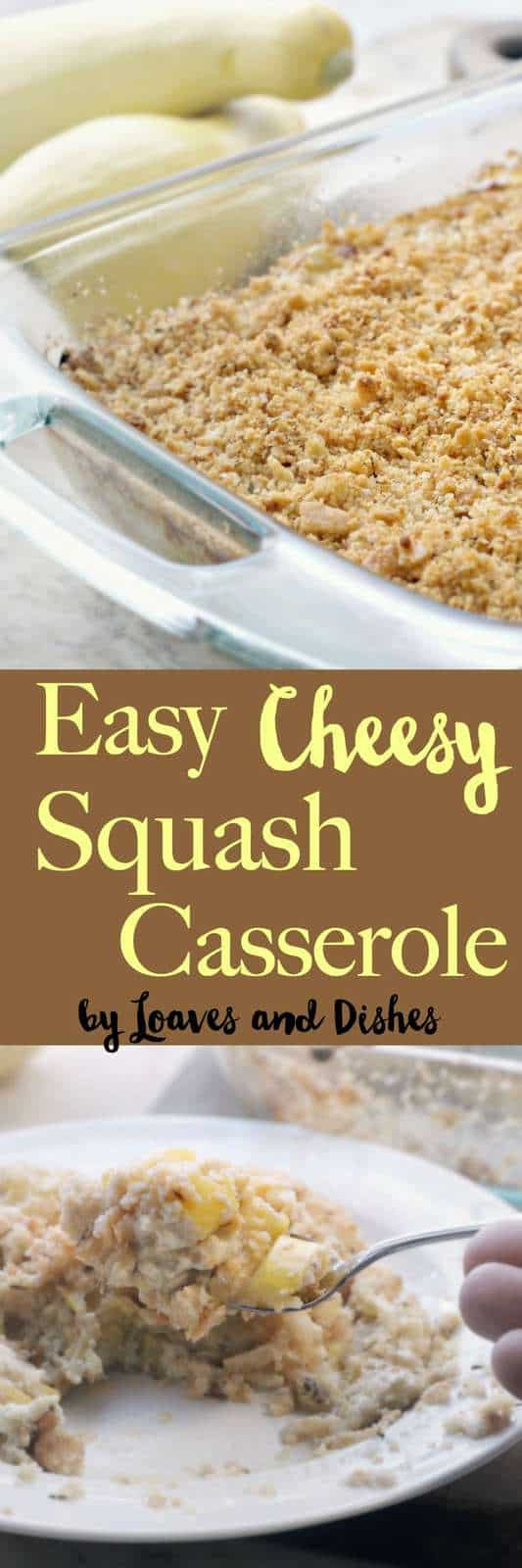 Easy Squash Casserole like your grandma used to make - or the Pioneer Woman or Paula Deen. Healthy and low carb - depending on how many crackers or stuffing you put in it. Typical Southern Recipe