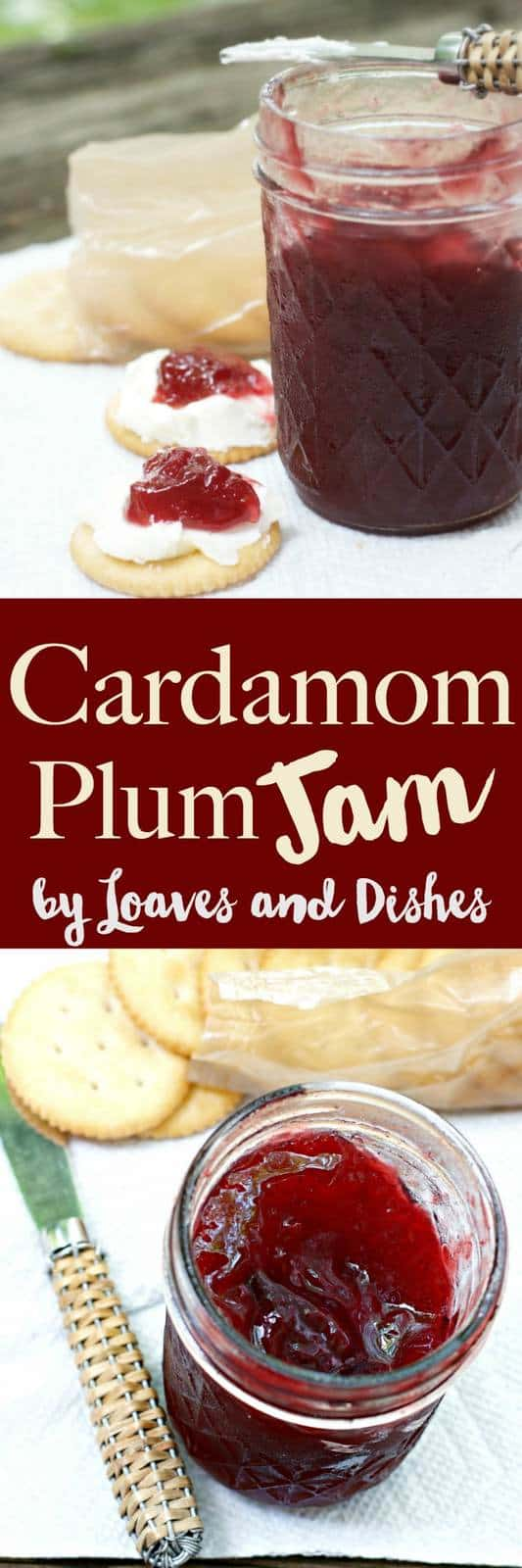 A sweet delicious recipe for home made jam that you can yourself using Indian spices and plums - Cardamom Plum Jam