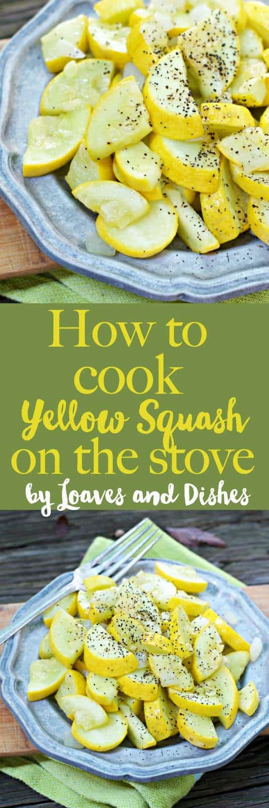 Yellow squash sauteed on the stove with onions and garlic is the BEST way to enjoy garden squash. Simple and easy recipe you can use olive oil if you like