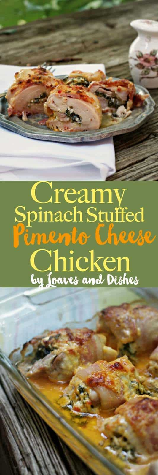 This easy baked stuffed chicken is healthy and low carb and BACON wrapped .  Hello Cream Cheese! Hello Pimento Cheese sauce!