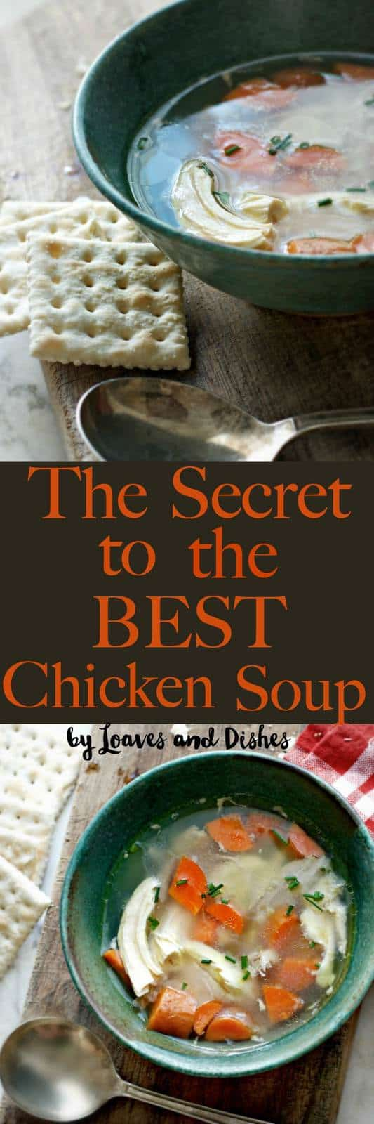 The best homemade from scratch recipe for healthy delicious easy chicken soup ever made.