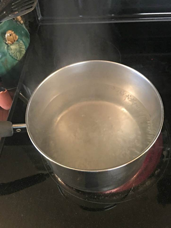 Pot of boiling water
