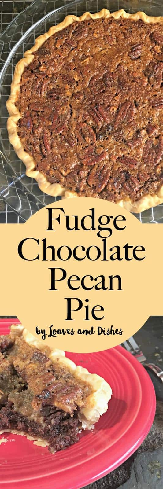 Simple Southern Living type recipe for Easy Chocolate Pecan Pie that is very fudgy! Using pecans and delicious food!