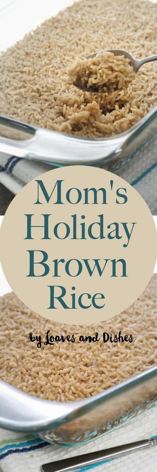 Healthy Baked Rice Dish that is one dish and made simple. Southern, easy comfort food. What's not to like? Easy Recipe for Brown Rice.