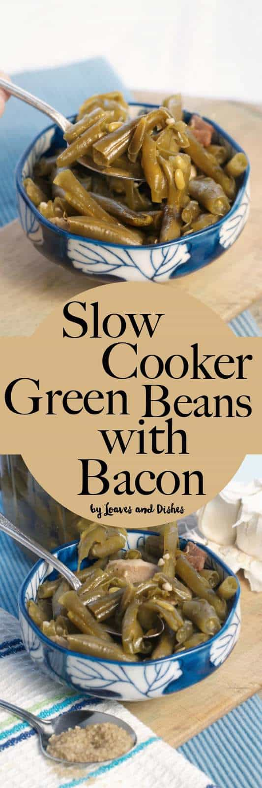 Simple recipe for smoky silky soft flavorful green beans that are just the best! Time saver and space saver in the kitchen. Use the crockpot and save time. Southern recipe great for families. Using canned, fresh or frozen beans.