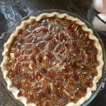The completed Kentucky Bourbon Pie ready for the oven