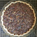 A photo of the baked Kentucky Bourbon Pie