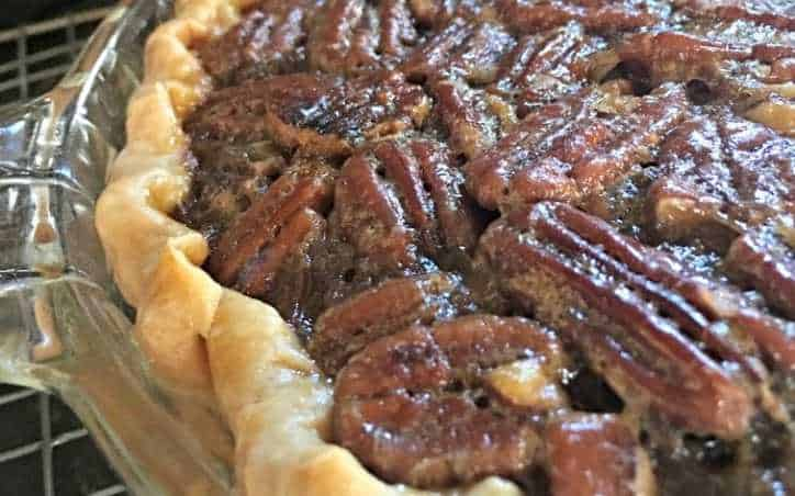 A close up shot of the side of the Kentucky Bourbon Pie
