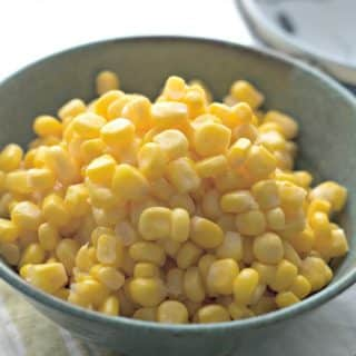 A photo up close of. How to cook canned corn on the stove