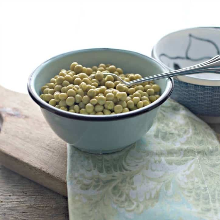 A photo from a distance of. How to cook canned peas on the stove