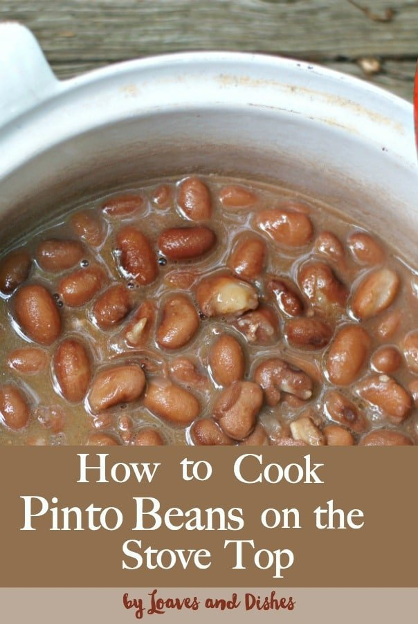 This post for how to cook pinto beans on the stove top is the perfect old fashioned southern healthy way to cook a pinto bean.  You'll be thanking your stars, Pioneer Woman and Paula Deen for high fives into flavortown.