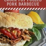 Lexington Style Crock Pot Pulled Pork Barbecue