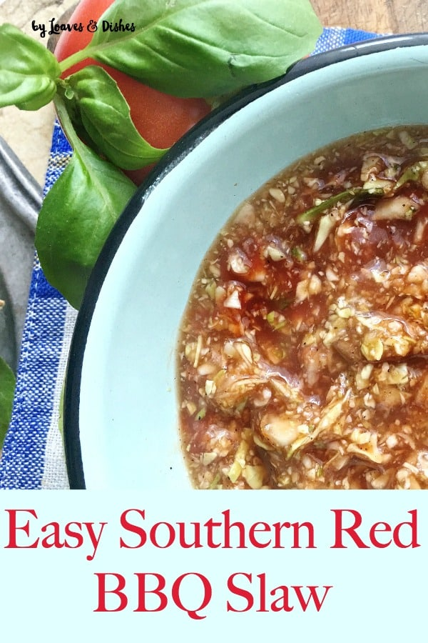 A deep south favorite from the barbecue capital of the world using cider vinegar, sugar, cabbage and the secret ingredient!  Eat this with Pork Barbecue done Lexington Style with a vinegar sauce pulled pork North Carolina style.  Like you might see on Paula Dean or Pioneer Woman. #bbqslaw #redslaw #barbecueslaw #northcarolinaslaw #howtousecabbage #differentslaw #itsgood