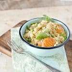 a bright photo of Restaurant Style Chicken Fried Rice
