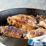 A photo ofApples and Ale Barbecue Chicken in the frying pan