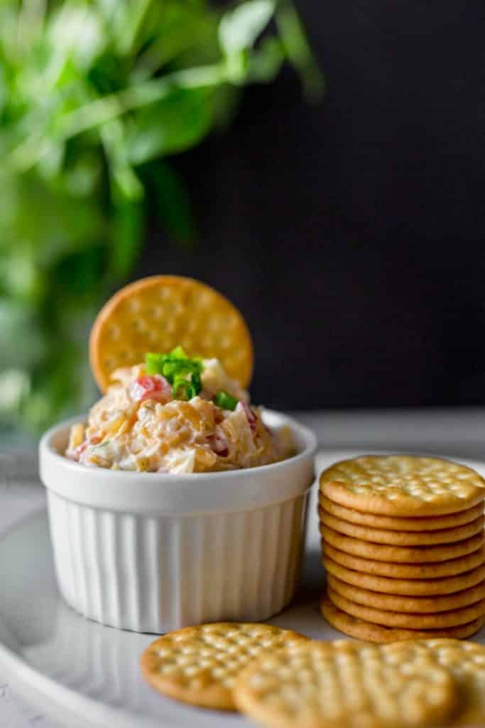 A bowl of Southern Hot Pimento Cheese