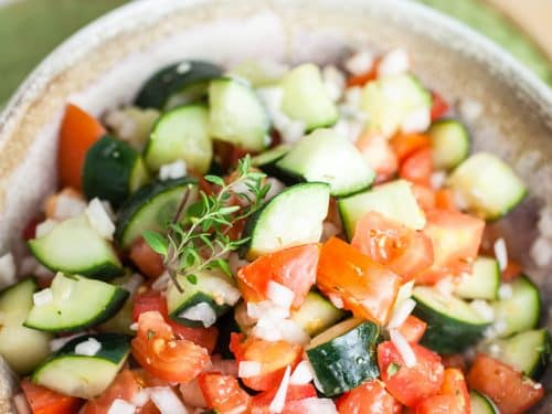 Zesty Cucumber Tomato Salad
