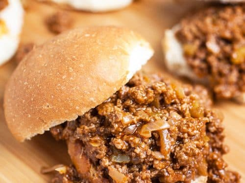Super Easy Homemade Sloppy Joes