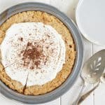 A view from above of Cracker Crust Peanut Pie