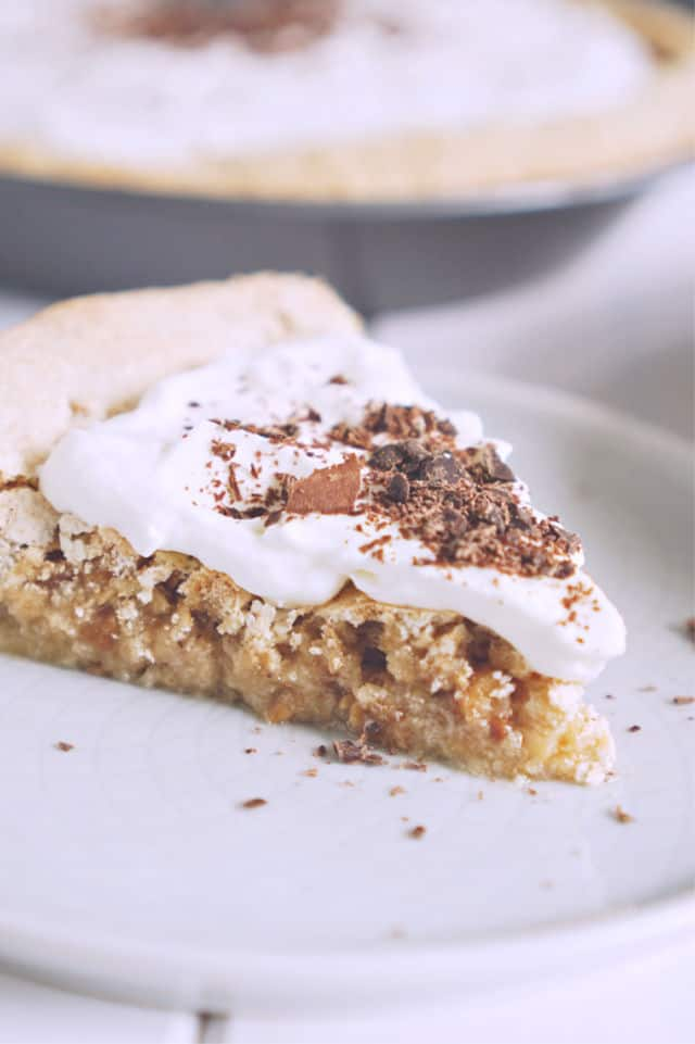 A slice of Cracker Crust Peanut Pie