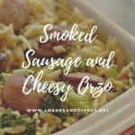 Smoked Sausage and Cheesy Orzo