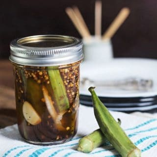 Refrigerator Pickled Okra